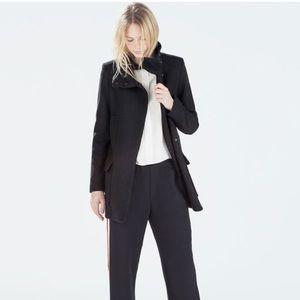 Zara Funnel Black Jacket Size Medium